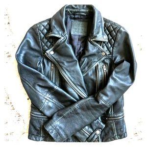 All Saints Leather Cargo Jacket Women's